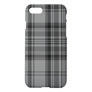 Taupe Grey Charcoal Black Tartan Plaid iPhone 8/7 Case