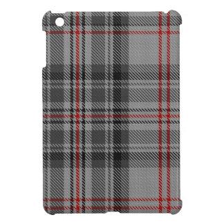 Taupe Grey Red Black Tartan Plaid iPad Mini Covers