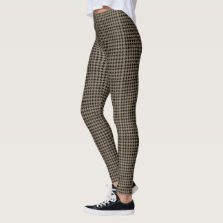 Taupe Houndstooth Leggings