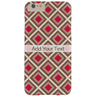 Taupe, Light Taupe, Hot Pink Ikat Diamonds STaylor Barely There iPhone 6 Plus Case