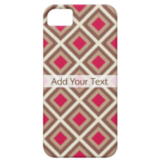 Taupe, Light Taupe, Hot Pink Ikat Diamonds STaylor Case For The iPhone 5