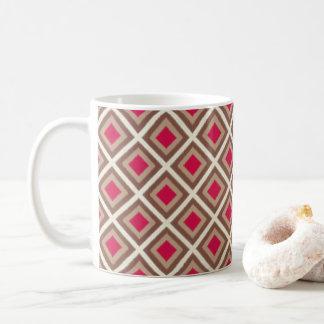 Taupe, Light Taupe, Hot Pink Ikat Diamonds STaylor Coffee Mug