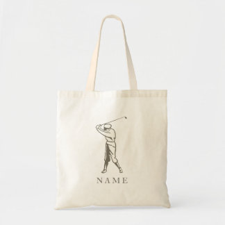 Taupe Personalized Golfer Tote Bag
