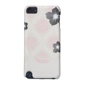 taupe pink and ecru ivory damask design pattern iPod touch 5G case