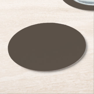 Taupe Round Paper Coaster