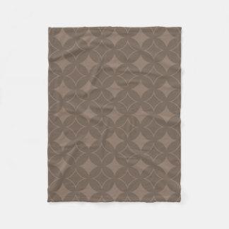 Taupe shippo fleece blanket