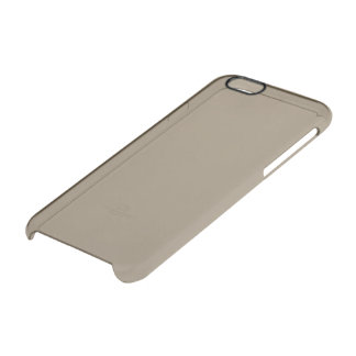 Taupe Solid Colour Clear iPhone 6/6S Case