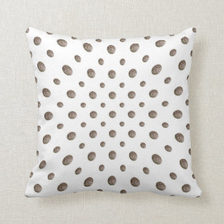 Taupe Textured Watercolor Dots Cushion