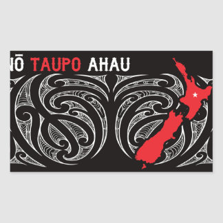 Taupo Aotearoa Map Pin Drop Rectangular Sticker
