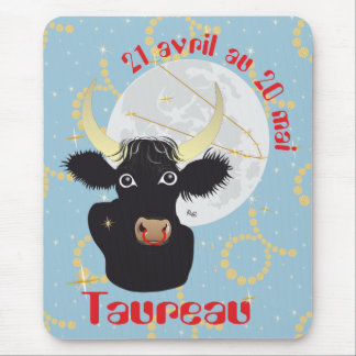 Taureau 21 avril outer 20 May Tapis de souris Mouse Pad