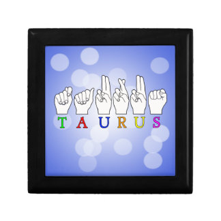 TAURUS ASL FINGERSPELLED NAME ZODIAC SIGN GIFT BOX