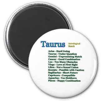 Taurus Astrological Match The MUSEUM Zazzle Gifts 6 Cm Round Magnet