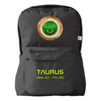Taurus Astrological Symbol Backpack