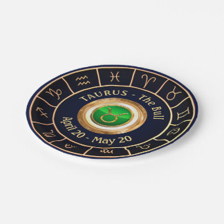 Taurus Astrological Symbol Paper Plate