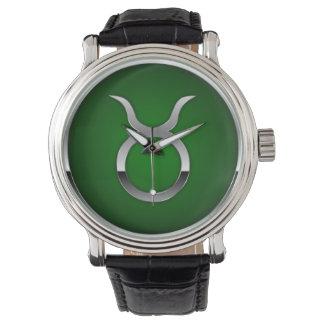 Taurus Astrology Zodiac Sun Sign Men's Watch