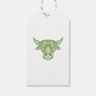 Taurus Bull Celtic Knot Gift Tags