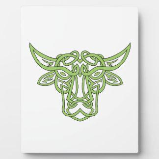 Taurus Bull Celtic Knot Plaque