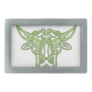 Taurus Bull Celtic Knot Rectangular Belt Buckles