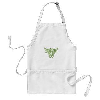 Taurus Bull Celtic Knot Standard Apron