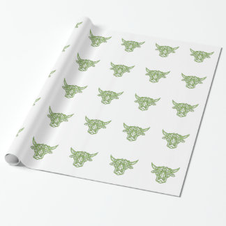 Taurus Bull Celtic Knot Wrapping Paper