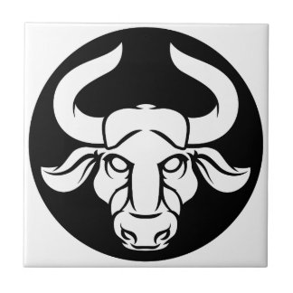 Taurus Bull Zodiac Astrology Sign Tile