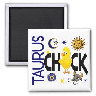 Taurus Chick 1 Square Magnet