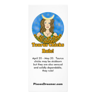 Taurus Chicks Rule! Rack Card Design