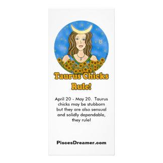 Taurus Chicks Rule Rack Cards