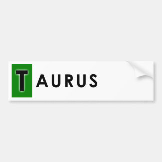 TAURUS COLOR BUMPER STICKER
