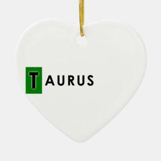 TAURUS COLOR CERAMIC HEART DECORATION