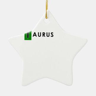 TAURUS COLOR CERAMIC STAR DECORATION