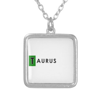 TAURUS COLOR SILVER PLATED NECKLACE