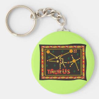 Taurus Constellation Basic Round Button Key Ring