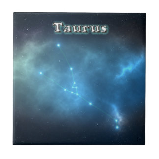 Taurus constellation ceramic tile
