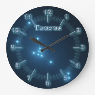 Taurus constellation large clock