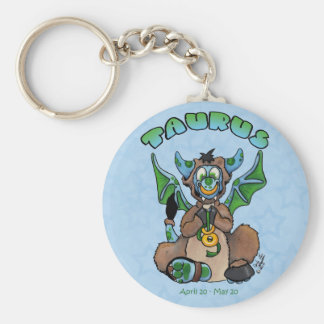 Taurus cute zodiac baby dragon keychain