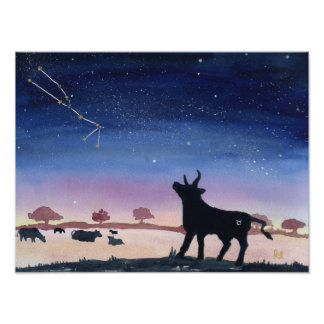 Taurus Dreaming Poster