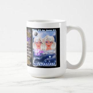 Taurus Gemini  Cusp zodiac white travel Coffee Mug