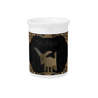 Taurus golden sign beverage pitchers