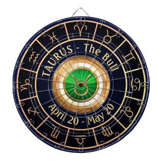 Taurus Horoscope Symbol Dartboard