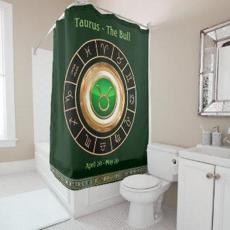 Taurus Horoscope Symbol Shower Curtain