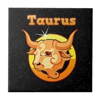 Taurus illustration ceramic tile