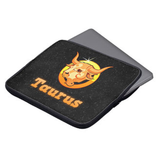 Taurus illustration laptop sleeve