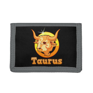 Taurus illustration tri-fold wallets
