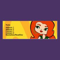 Taurus Profile Card business cards