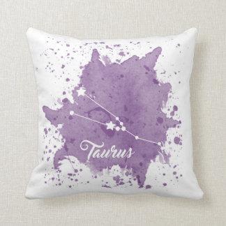 Taurus Purple Pillow