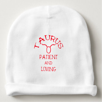 Taurus (Red Text) Baby Beanie