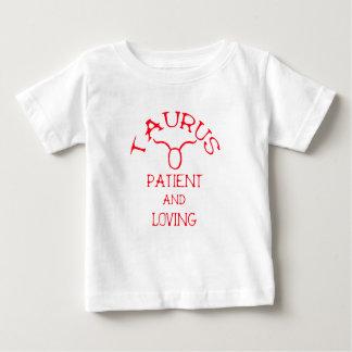 Taurus (Red Text) Baby T-Shirt