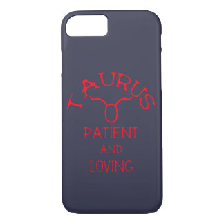 Taurus (Red Text) iPhone 8/7 Case
