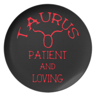 Taurus (Red Text) Plate